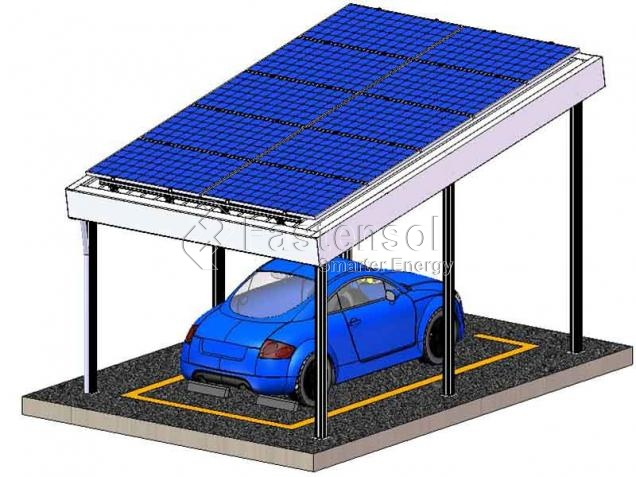 L-type Aluminum Solar Waterproof Carport Mounting System